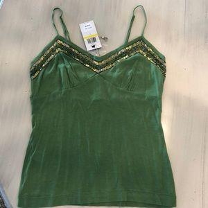 BCBG green camisole top